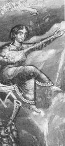 Tambouras sur une peinture murale des années 1500, Monastère de Koutloumousiou au Mont Athos