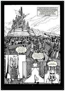 Les Chroniques du Dragon Phénix - Omnibus. La première page. (un clic pour agrandir)